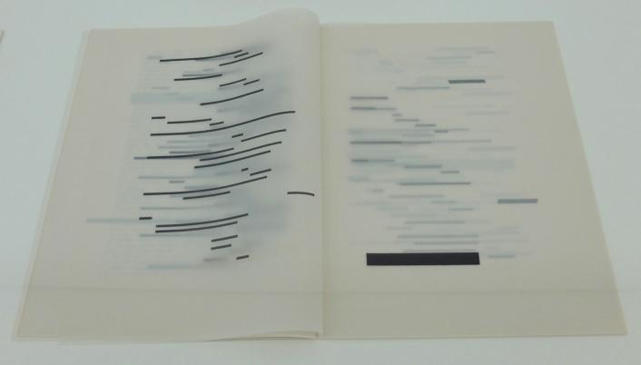 Ausstellungsansicht mumok: Künstlerbuch   Artists' book: Marcel Broodthaers. UN COUP DE DÉS JAMAIS N'ABOLIRA LE HASARD. Image, 1969