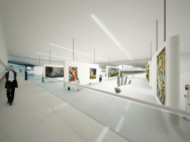 Geplantes Museum of Middle East Modern Art in Dubai, Innenansicht, UN Studio, Stand 2008