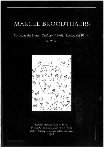 Marcel Broodthaers Katalog der Bücher Cover