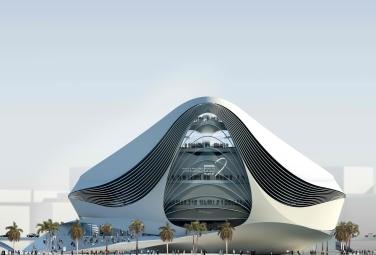 Geplantes Museum of Middle East Modern Art in Dubai, Nordansicht, UN Studio, Stand 2008