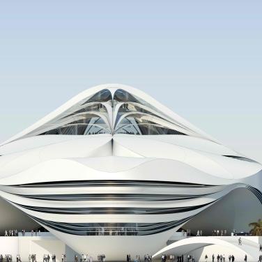 Geplantes Museum of Middle East Modern Art in Dubai, Südansicht, UN Studio, Stand 2008