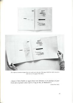 Künstlerbuch | Artists' book: Marcel Broodthaers. UN COUP DE DÉS JAMAIS N'ABOLIRA LE HASARD. Image, 1969 (Bilder aus: Marcel Broodthaers. Catalogue des Livres / Catalogue of Books / Katalog der Bücher 1957-1975, Galerie Michael Werner, Köln)