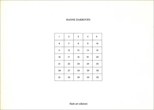 Hanne Darboven, Information (flash art edition, Mailand 1973)