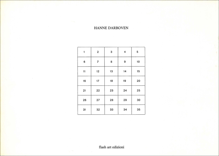 Hanne Darboven, Information (flash art edition, Mailand 1973)