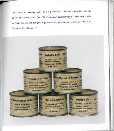 Piero Manzoni, Scatolette di Merda d'artista nn. 20, 53, 68, 78, 80, Maggio 1961