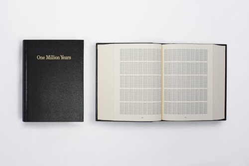 On Kawara. One Million Years, 1999 (source: http://www.micheledidier.com)