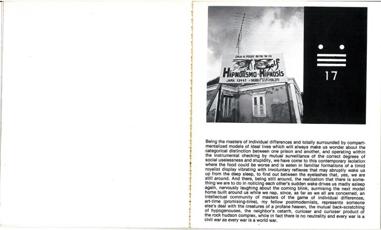Künstlerbuch | Artists' book: Leandro Katz. Self Hipnosis (Vipers Tongue Books, New York 1975)