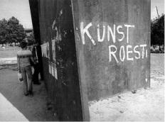Richard Serra, Terminal, documenta 6, 1977 (Fotonachweis: Kat Ausst. Staatliche Museen Kassel 1992, S.45)