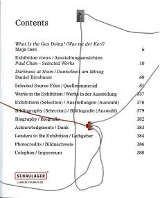 Ausstellungskatalog | Paul Chan. Selected Works (Laurenz-Stiftung, Schaulager, Basel 2014)