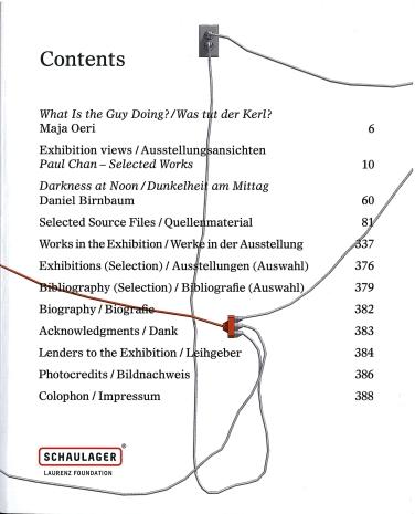 Ausstellungskatalog   Paul Chan. Selected Works (Laurenz-Stiftung, Schaulager, Basel 2014)