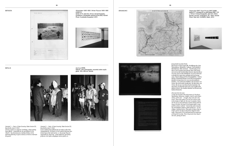 Doppelseite aus / Doublepages from Sven Johne: Where the sky is darkest, the stars are brightest. S. / pp. 84-85