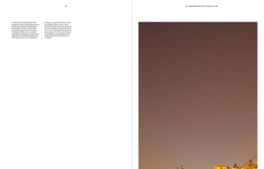 Doppelseite aus / Doublepages from Sven Johne: Where the sky is darkest, the stars are brightest. S. / pp. 78-79.