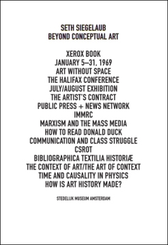Leontine Coelewij / Sara Martinetti (Eds.): Seth Siegelaub. Beyond Conceptual Art, Verlag der Buchhandlung Walther König, Köln 2015