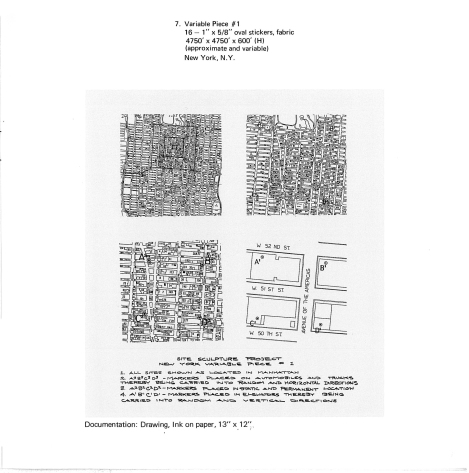 Abb.: Kat. Nr. 7. Variable Piece #1, in: Douglas Huebler, November 1968, Seth Siegelaub, New York, NY 1968.