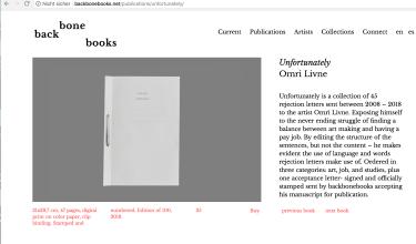 Omri Livne. Unfortunately, backbonebooks 2018, num. Ed. of 100