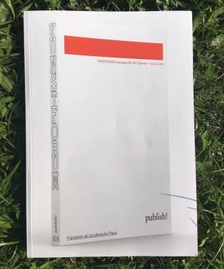 Kunstforum International, Band 256, September/Oktober 2018, publish! Publizieren als künstlerische Praxis (Foto: Franz Thalmair)